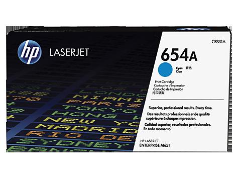HP CF331A Картридж лазерный HP 654A голубой, ресурс 15000 стр