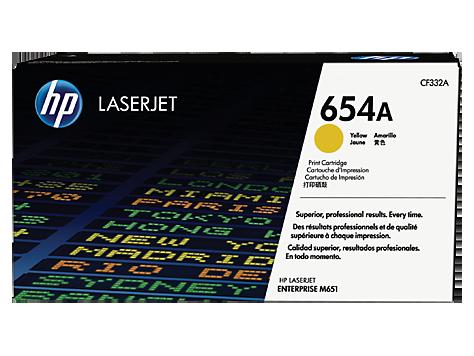 HP CF332A Картридж лазерный HP 654A желтый, ресурс 15000 стр