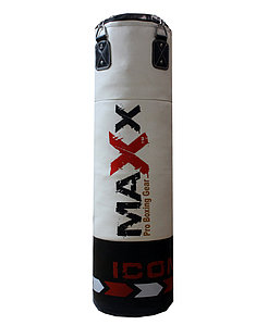 Боксерский мешок MAXх кожа 120см ,белый
