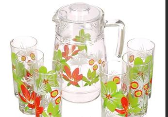 Набор для напитков Luminarc Pop Flower Green