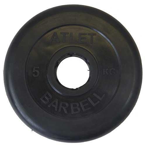 Диск обрезиненный черный MB ATLET d-51 5кг
