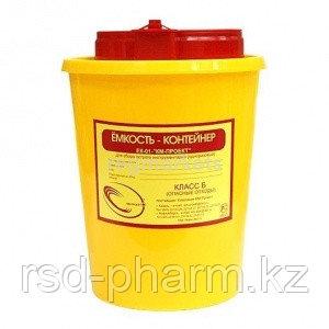 Емкость-контейнер для сбора острого инструментария, емк. 1,5 л.