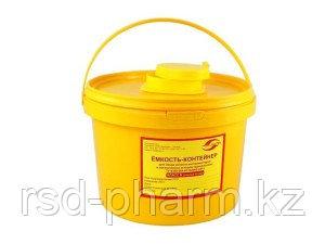 Емкость-контейнер для сбора острого инструментария, емк. 3,0 л., фото 2