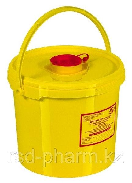 Емкость-контейнер для сбора острого инструментария, емк. 6,0 л.класса Б, желтого цвета