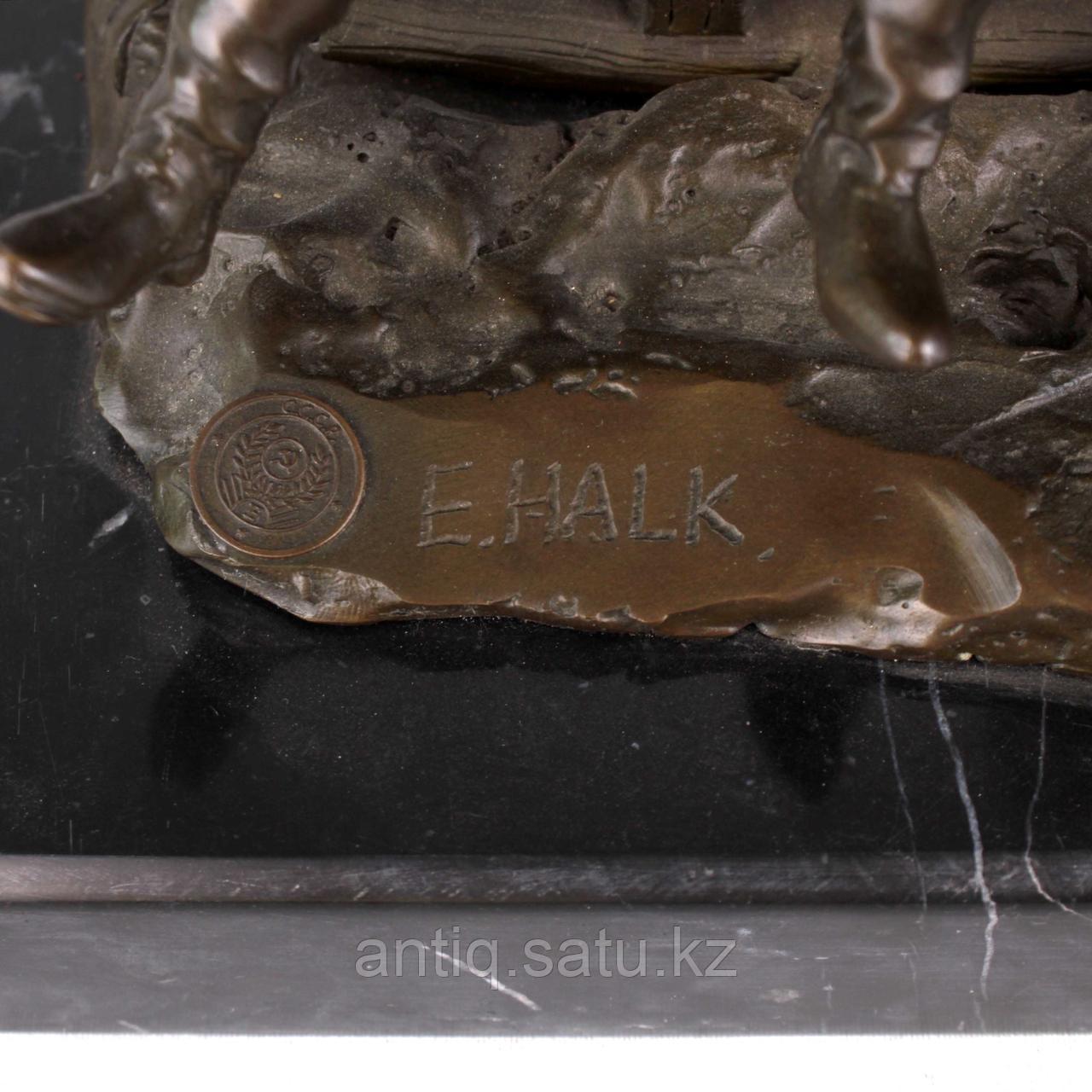 Солдаты на русской тройке. По модели известного скульптора Е. И. Напс (1848-1886) - фото 7