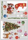 """Наклейка  """"Санта и новогодние шарики"""", цветные, на водной основе, фото 4"""