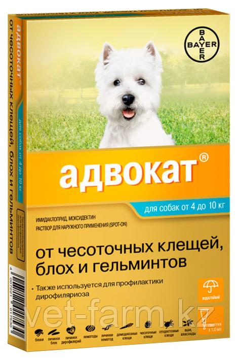 Адвокат для собак от 4 до 10 кг 1 пип.
