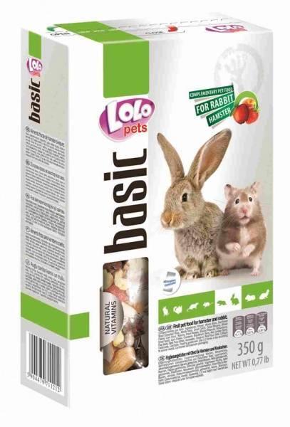 Lolo Pets 350 гр./Ло Ло Петс Корм для хомяков и кроликов фруктовый
