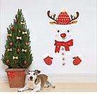 """Наклейка """"Новогодний олень"""", для холодильника или дверей, фото 4"""