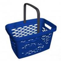 Корзина покупательская пластиковая SHOLS 27 литров, 1 складывающаяся ручка