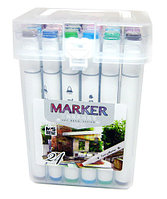 Маркер ART DRAW DESIGN 2588-24, 24 цветов