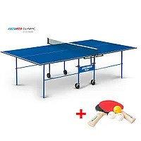 Теннисный стол Start Line Olympic c сеткой (игровой набор в подарок)