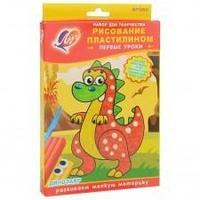 """Набор для рисования пластилином """"Динозавр"""""""