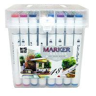 Маркер ART DRAW DESIGN 2588-48, 48 цветов