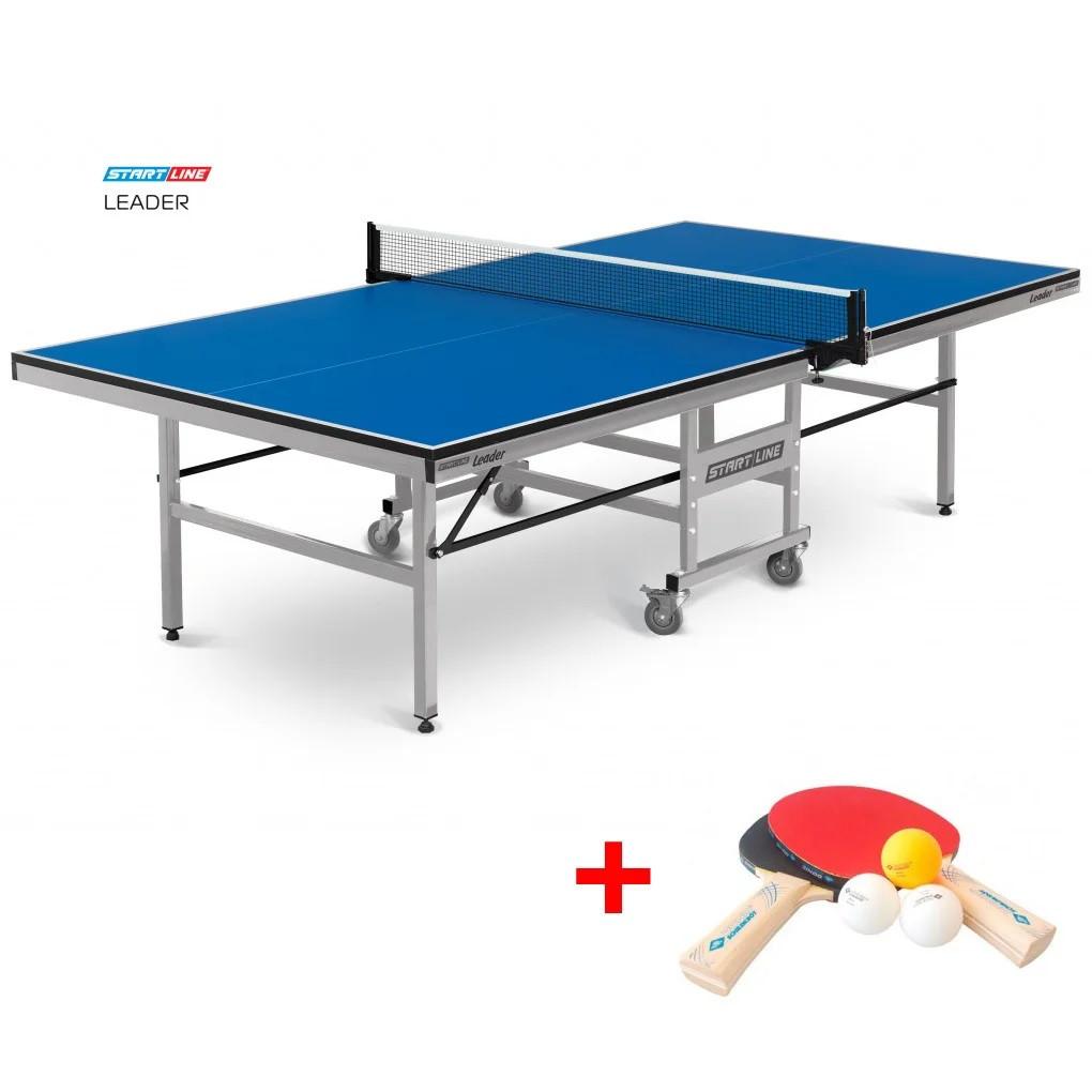 Теннисный стол Leader - клубный стол. Подходит для игры в помещении, идеален для тренировок и соревнований