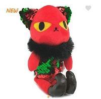 Брелок злая кошка с паетками