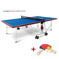 Теннисный стол Compact Expert Indoor - компактная модель для помещений. Уникальный механизм трансформации