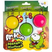 """Набор лизунов Genio Kids """"Мялка-жмялка"""", 3 цвета: розовый, желтый, зеленый, по 45г"""