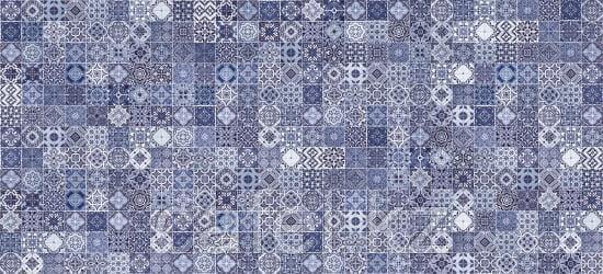 Кафель | Плитка настенная 20х44 Хаммам | Hammam голубой рельеф