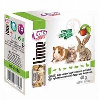 Lolo Pets минеральный камень для грызунов, с яблоком 40gr