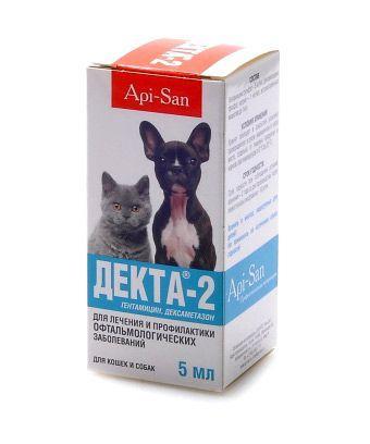 Декта-2, глазные капли, фл. 5 мл