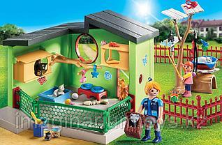 Детский конструктор «Отель для животных. Пансион для кошек» PLAYMOBIL