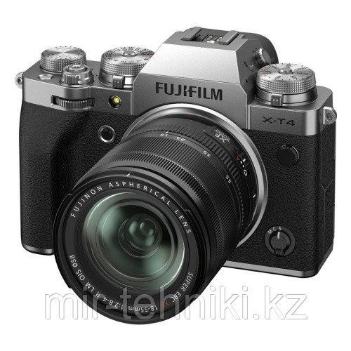 Фотоаппарат Fujifilm X-T4 Kit XF 18-55mm f/2.8-4R LM OIS Silver
