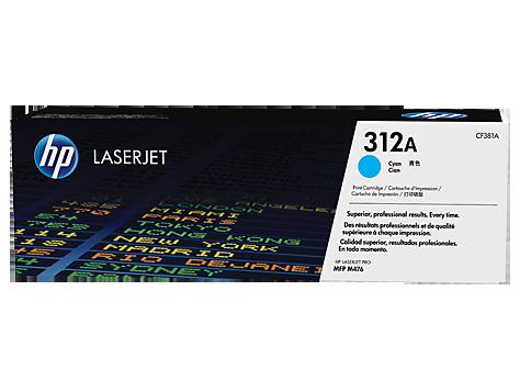 HP CF381A Картридж лазерный HP 312A голубой, ресурс 2700 стр