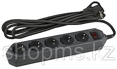 Сет.фильтр ЭРА USF-5es-3m-B 3x0.75мм2 зазем/выкл/черн