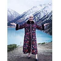 Женское пальто с норковым воротником 48