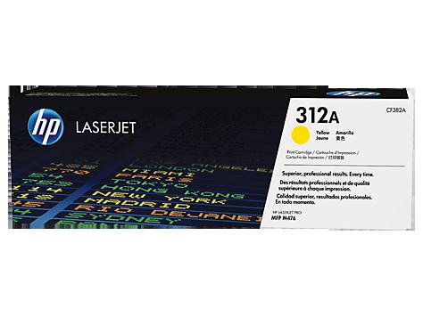 HP CF382A Картридж лазерный HP 312A желтый, ресурс 2700 стр