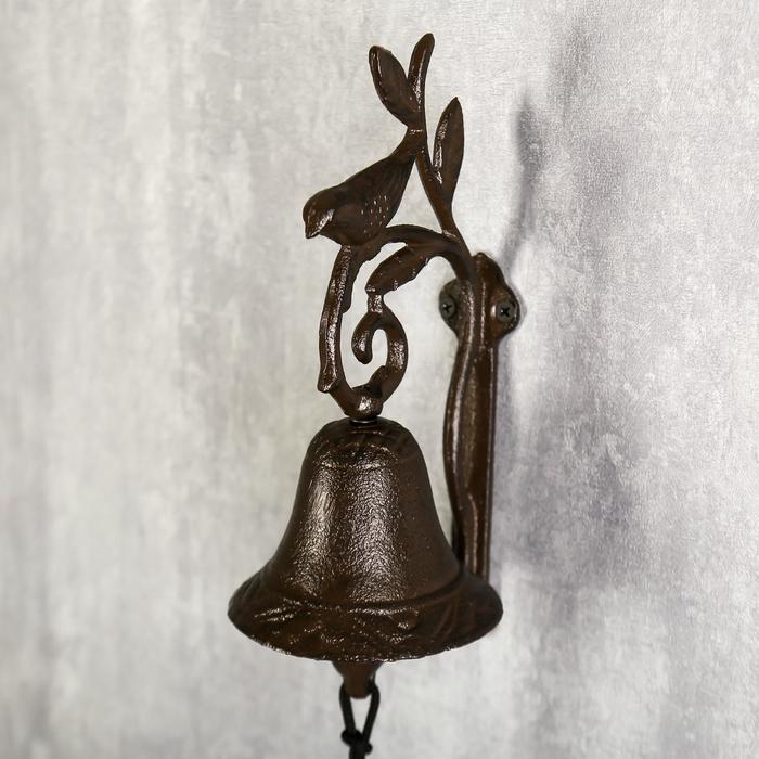 """Колокол сувенирный металл """"Птица на ветке"""" 24х12х7,5 см"""