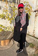 Женский осенний трикотажный спортивный большого размера спортивный костюм Runella 1442 50р.