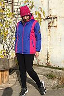 Женский осенний трикотажный спортивный большого размера спортивный костюм Runella 1443 48р.