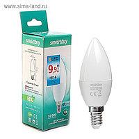 Лампа светодиодная Smartbuy, C37, Е14, 9.5 Вт, 6000 К, холодный белый свет