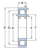 NJ 310 ECM/C3   подшипник  SKF