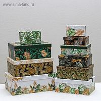 Набор подарочных коробок 10 в 1 «Тропический», 12 × 7 × 4 - 32.5 × 20 × 12.5 см