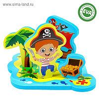 Набор развивающих игрушек для игры в ванной из EVA «Приключения пирата», 5 предметов