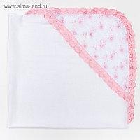 Уголок на выписку, цвет розовый, 80х80 см