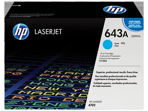 HP Q5951A Картридж лазерный HP 643A голубой, ресурс 10000 стр