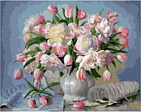 Картина по номерам GX 34922 Розовые тюльпаны в вазе 40*50