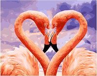 Картина по номерам GX 34620 Влюбленные фламинго 40*50