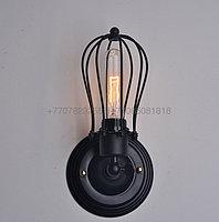 Черная лофт настенная бра Retro Wall Metall, фото 1
