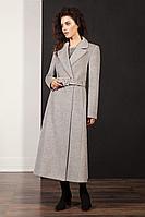 Женское осеннее драповое серое пальто Nova Line 1922 42р.