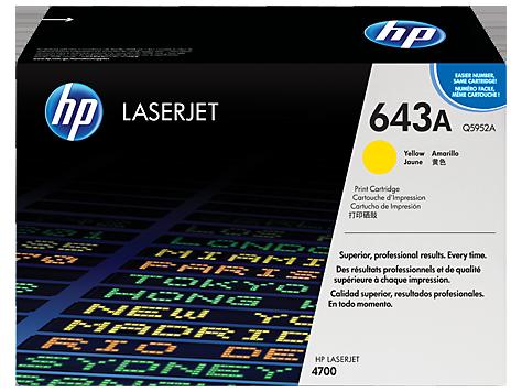 HP Q5952A Картридж лазерный HP 643A желтый, ресурс 10000 стр