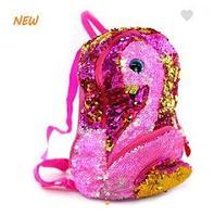 Рюкзак фламинго с паетками 27 см