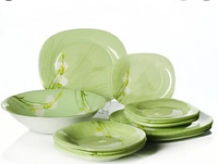 Сервиз столовый CARINA SOFIANE GREEN 46 предметов на 6 персон