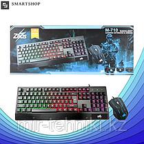 Клавиатура Zeus Keyboard M710 с подсветкой + Мышка (Игровая)