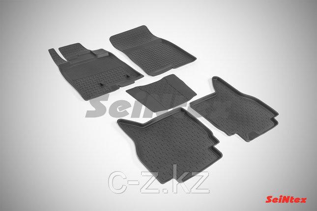 Резиновые коврики с высоким бортом для Mitsubishi Pajero IV 2006-2019, фото 2