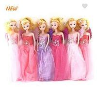 Кукла пышное платье 30 см (комплект 6 шт)